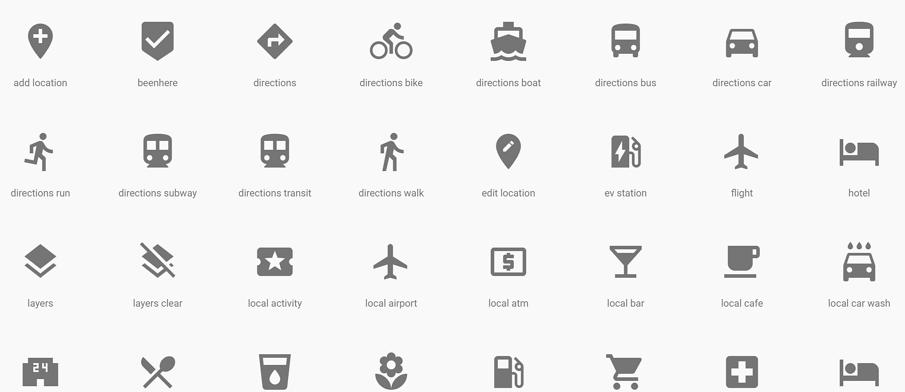 Google Material Design UI风格图标样式