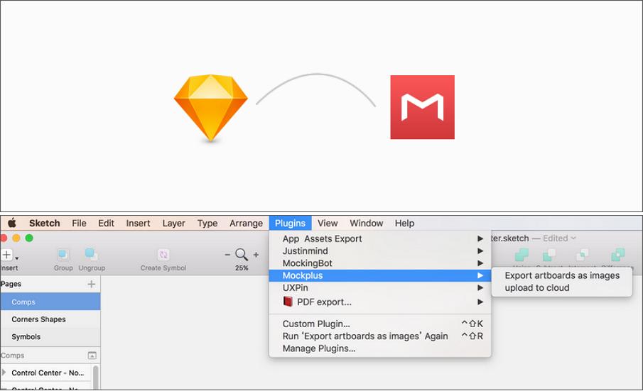 sketch插件导入到Mockplus软件