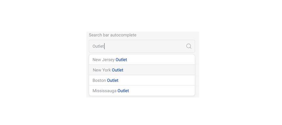 搜索框自动完成状态