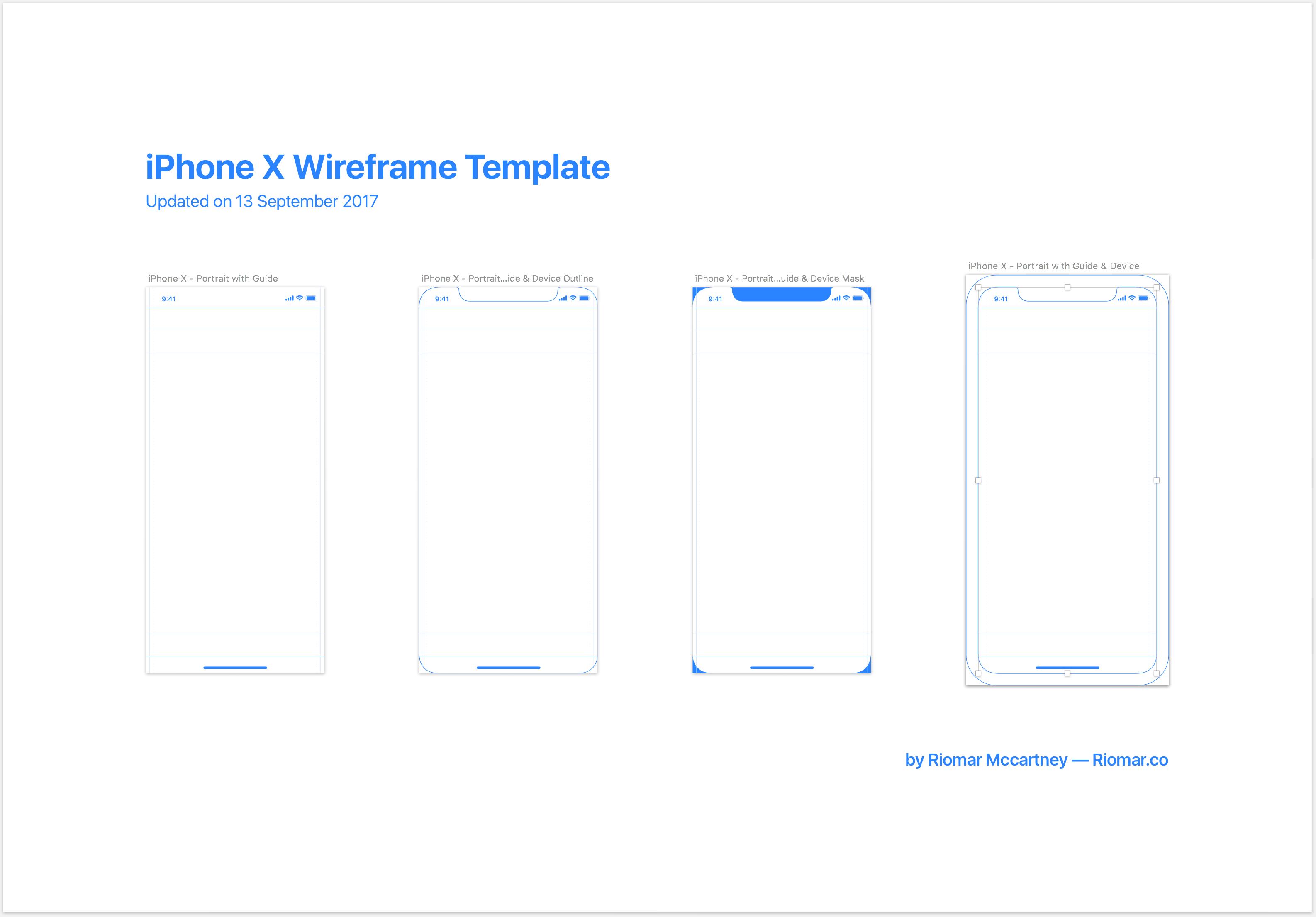 iPhone X线框和原型设计