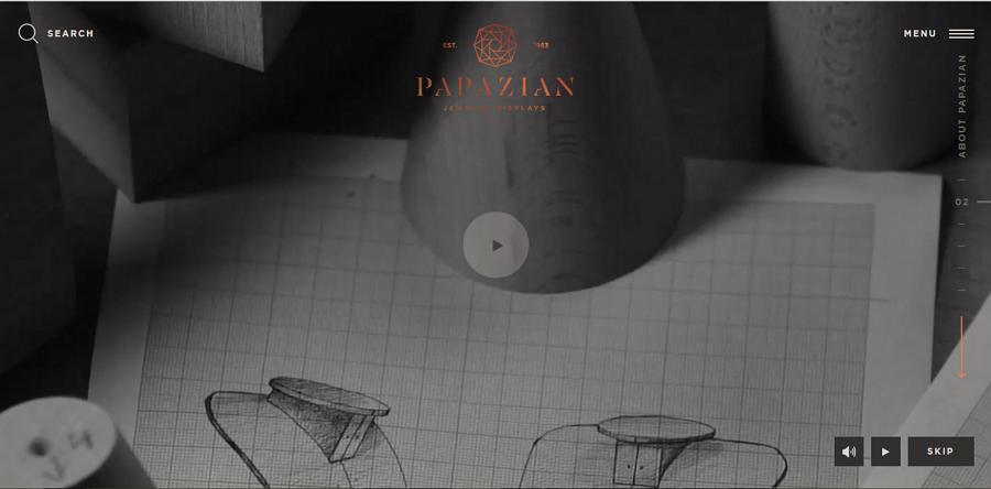 吸睛的全屏视频背景和极简主义设计风格