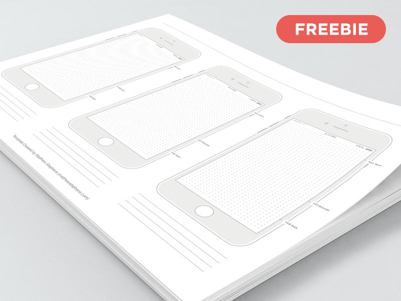 iPhone 7 线框图模板