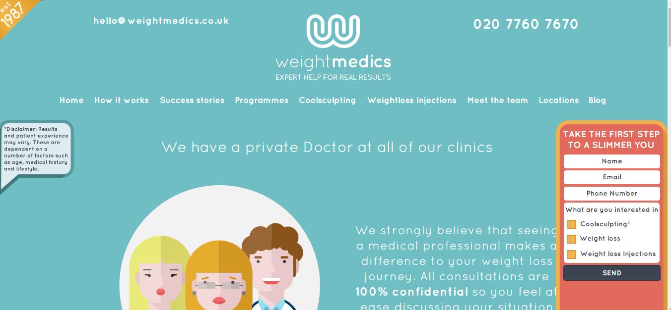 减肥类网站设计