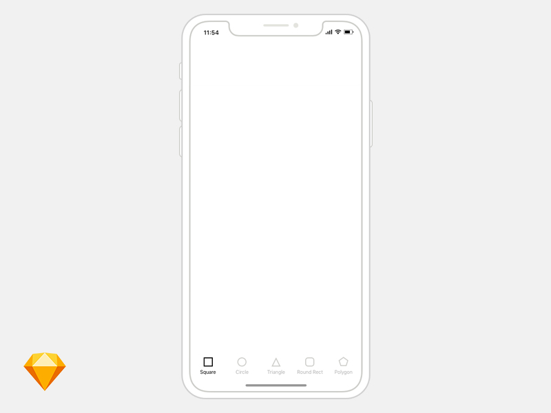 iPhone X线框图模板