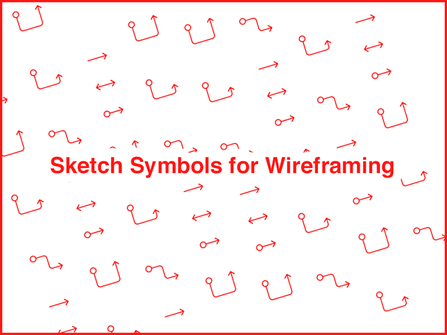 Wireframing Sketch Symbols资源