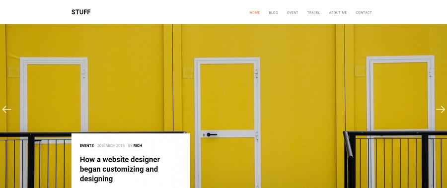 Stuff网站模板