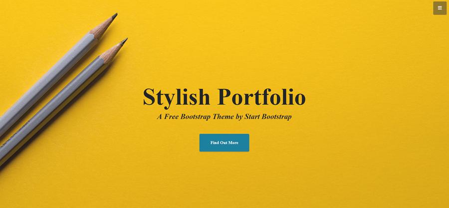 Stylish Portfolio网站模板
