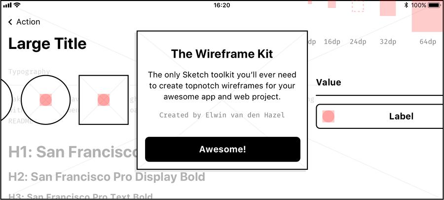 Sketch线框图工具包资源