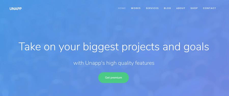 Unapp网站模板
