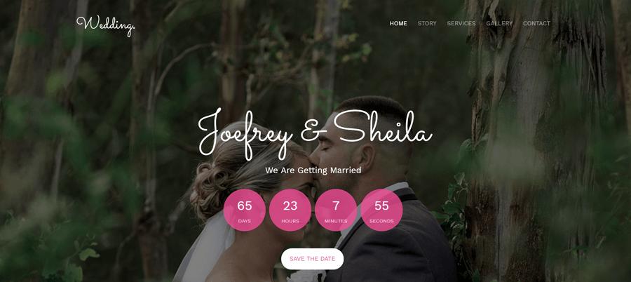 Wedding网站模板