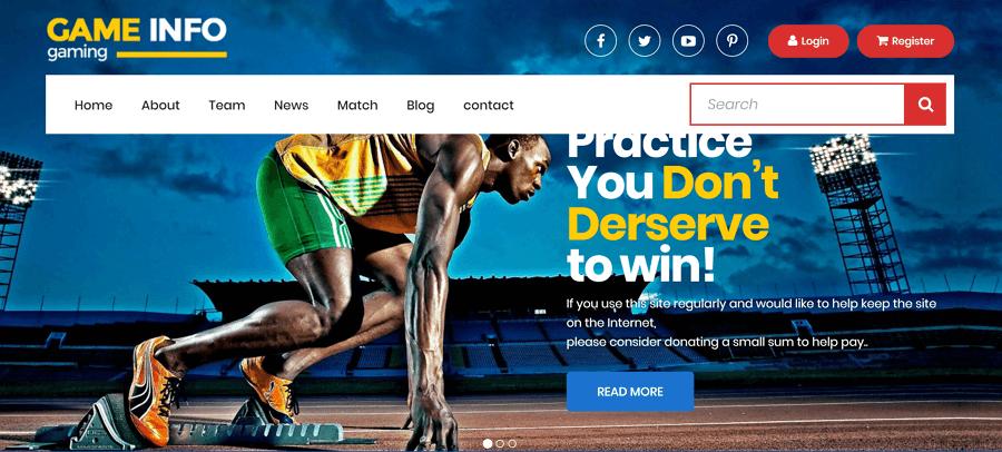 Sports网站模板
