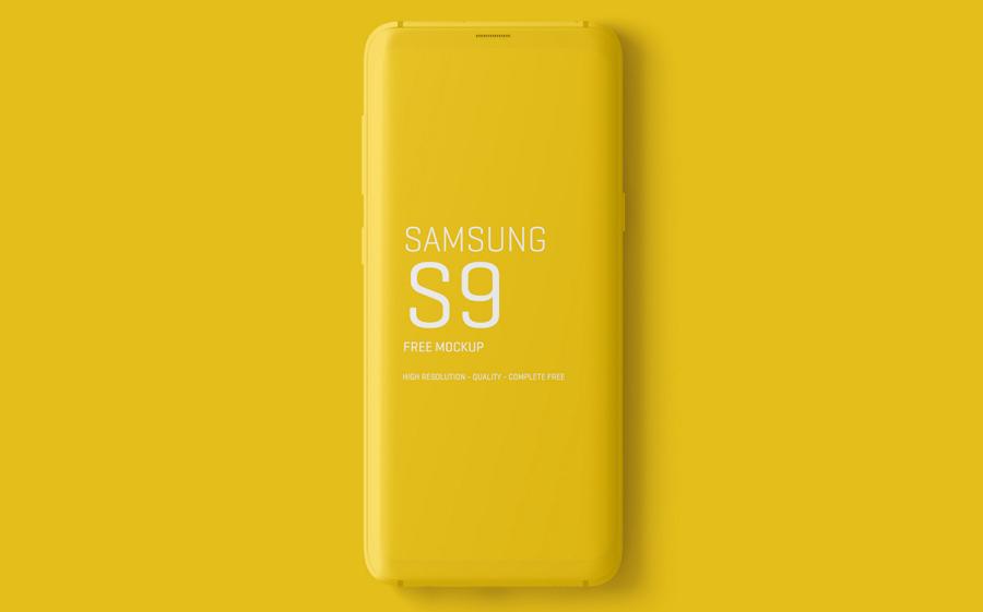 三星Galaxy S9模板 - 智能手机模板