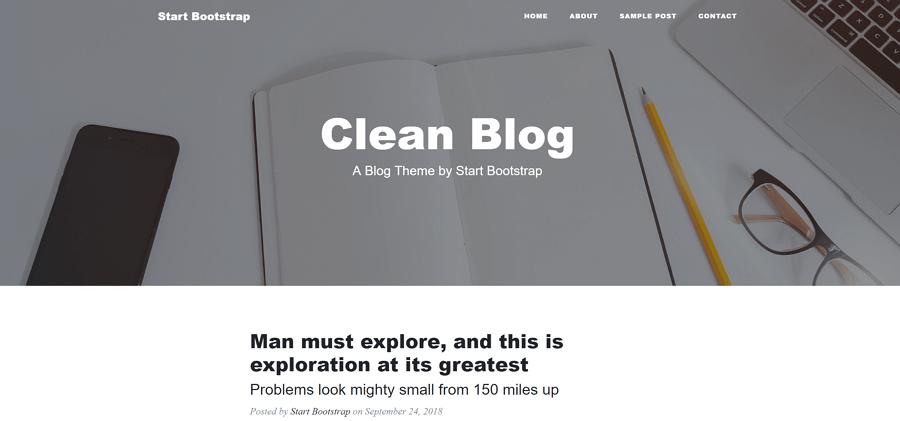Clean blog网站博客