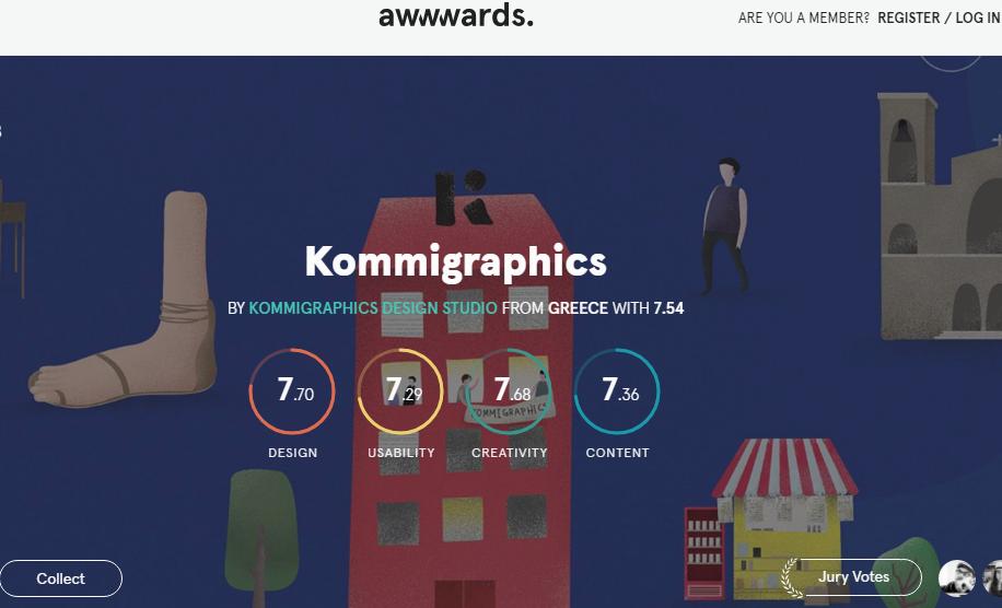 UI设计灵感类网站-AWWWARDS
