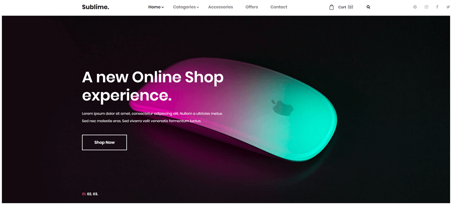 Sublime网站模板