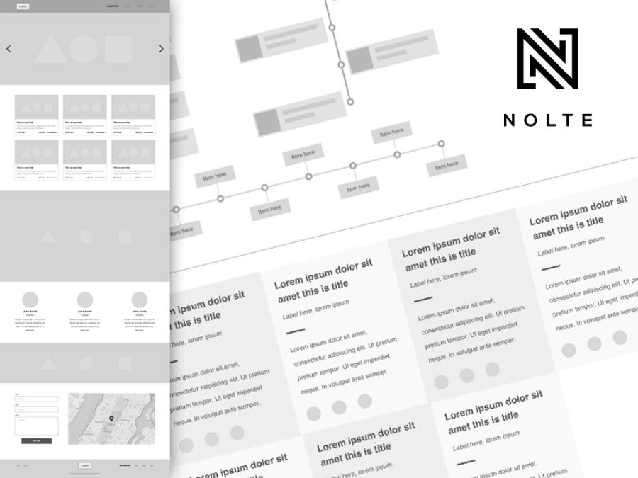Nolte - Sketch线框图UX套件