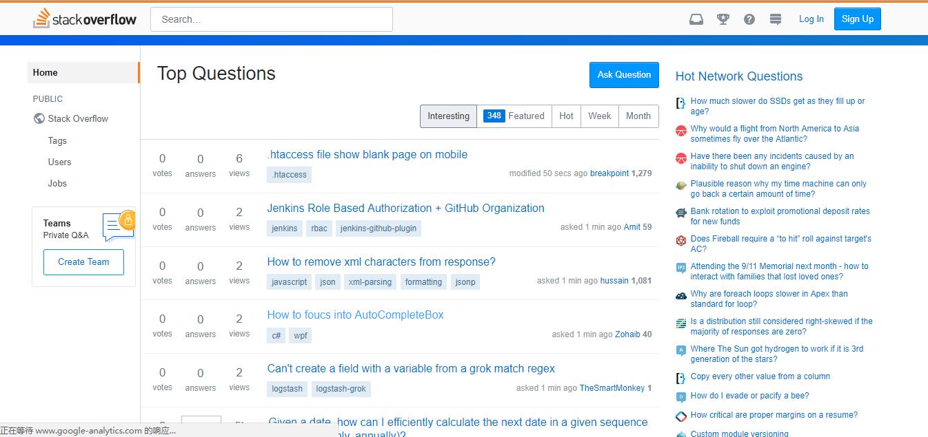 网页开发社区类网站Stack Overflow
