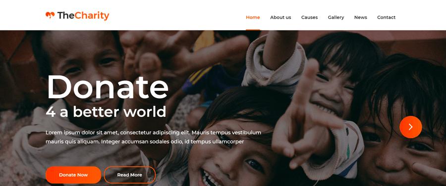Charity网站模板