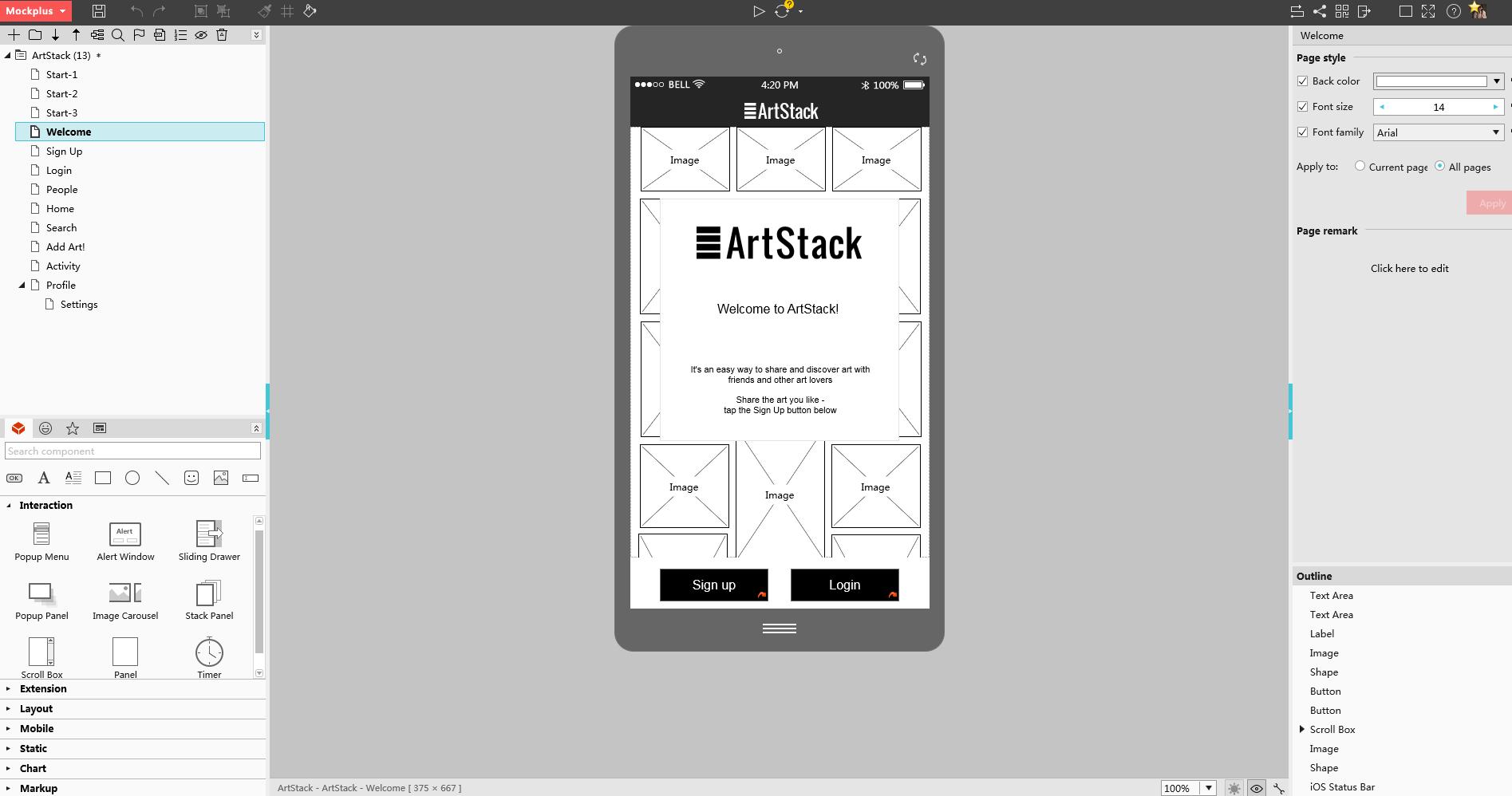 线框图工具-mockplus