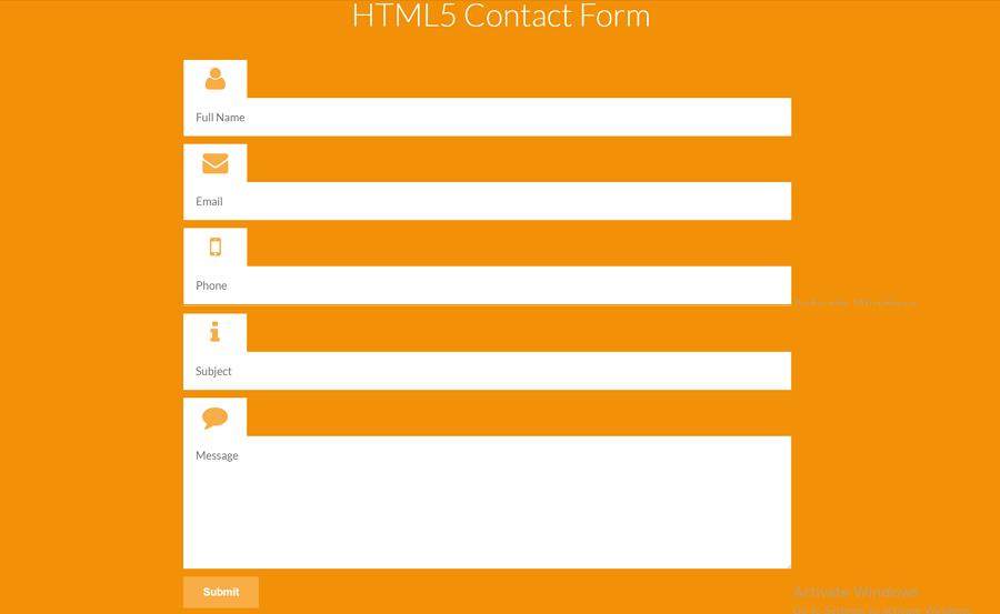 HTML5联系表单