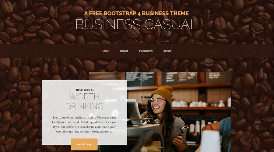 基于Bootstrap 4的完整网站模板-Business Casual