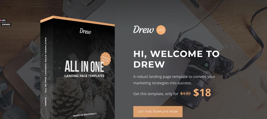 精美的设计和与页面相关的营销策略结合在一起