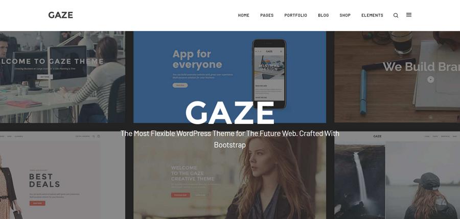 多功能WordPress主题着陆页模板-Gaze