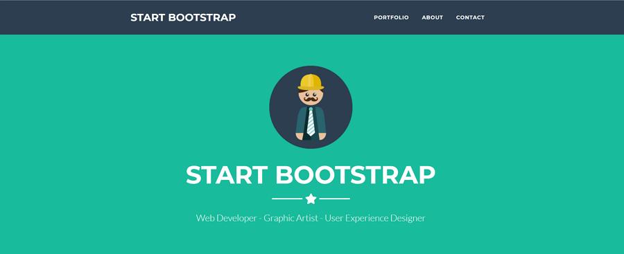 单页Bootstrap作品集主题网站的着陆页模板