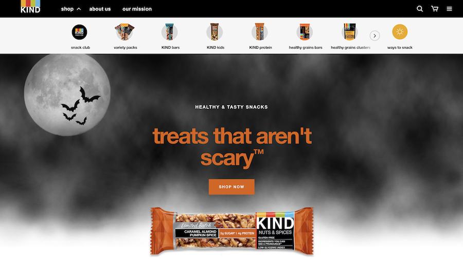 Kindsnacks网页设计