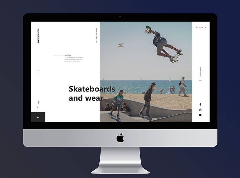 5.Skateboarder – Free Xd UI Kit for Adobe AD