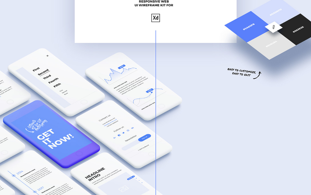 20. Luxo Adobe XD Responsive Wireframe UI/UX Design Kit