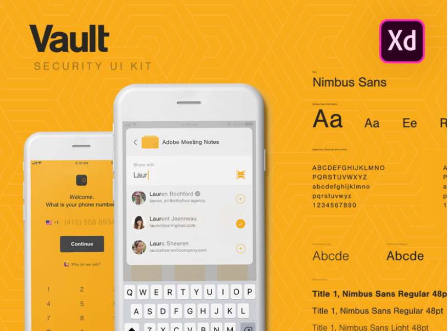 10. Vault UI Kit (Adobe XD)