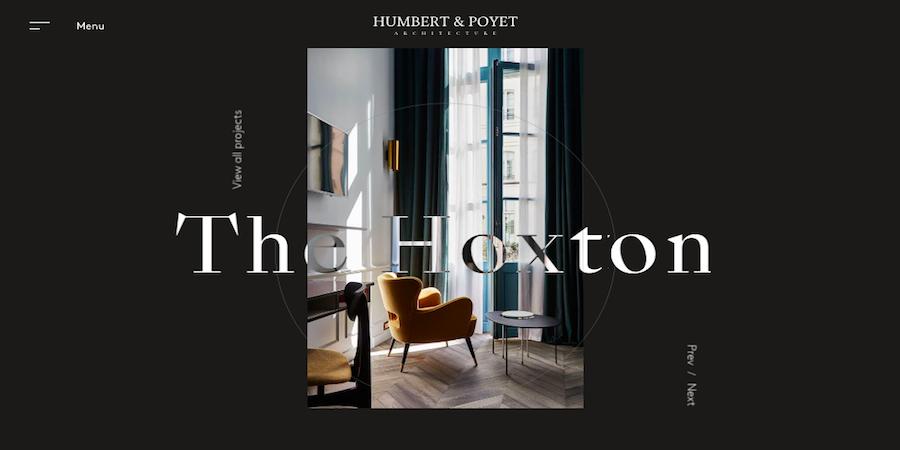 Humbert & Poyet网站界面