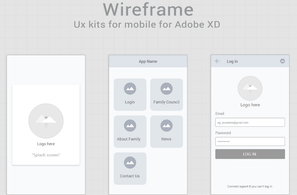 16. Free wireframe kits for Adobe XD